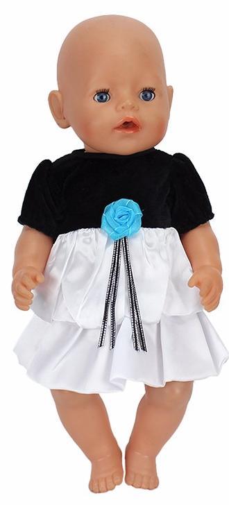 Купить Одежда для кукол: платье черно-белое, JUNFA TOYS