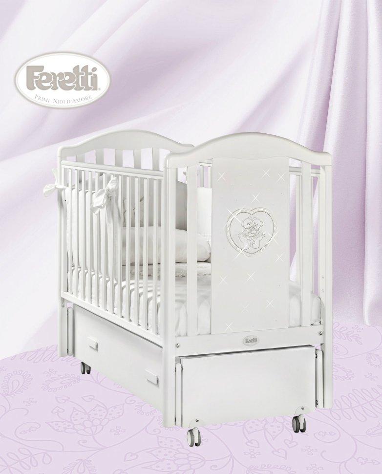 Кровать детская Mon Amourswing BiancoДетские кровати и мягкая мебель<br>Кровать детская Mon Amourswing Bianco<br>