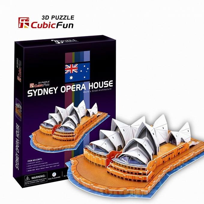 Сиднейский Оперный театрПазлы объёмные 3D<br>Сиднейский Оперный театр<br>