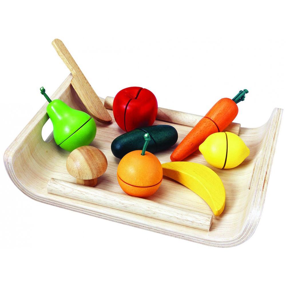Игровой набор - Фрукты и овощи, Plan Toys  - купить со скидкой