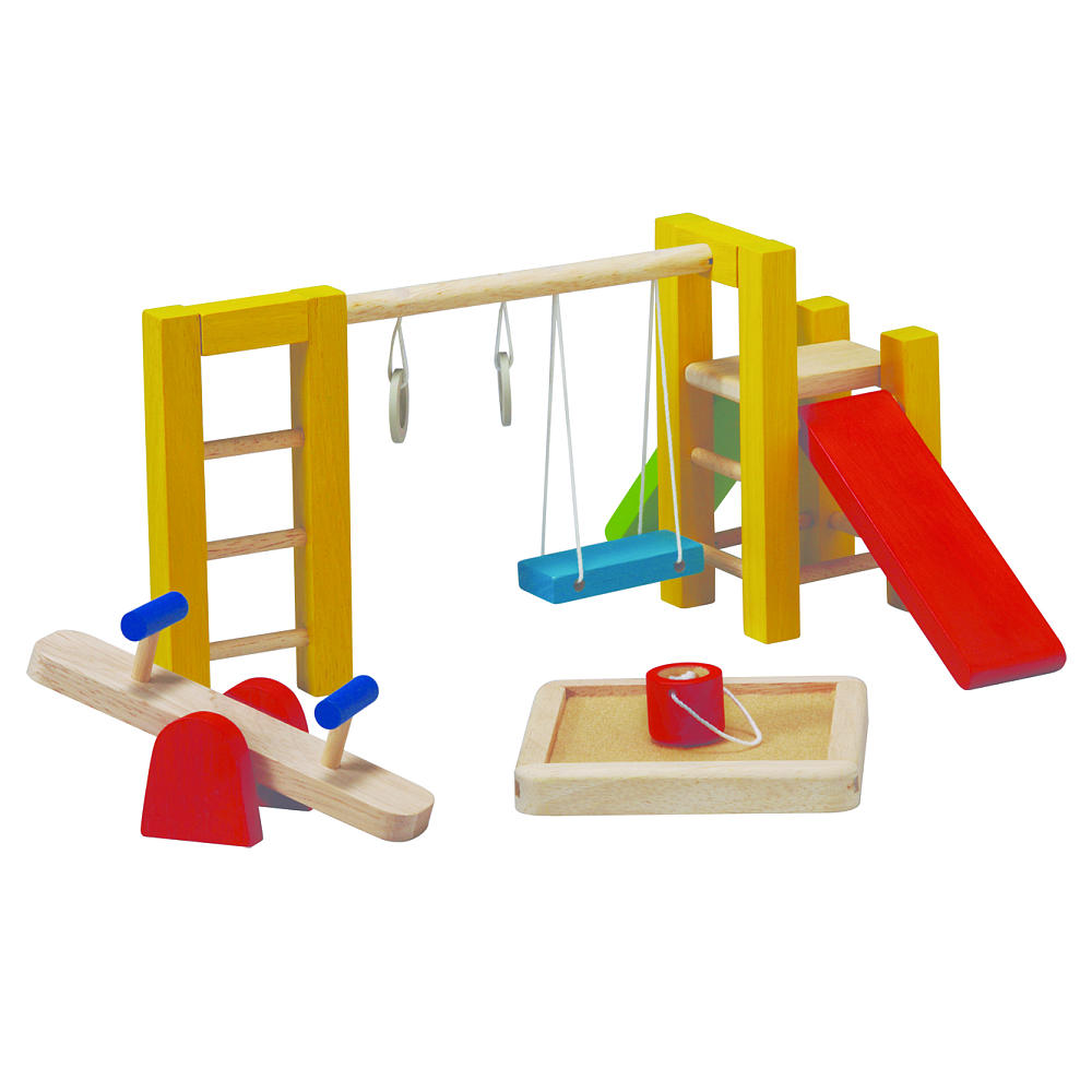 Игровой набор из дерева - Спортивная площадкаКукольные домики<br>Игровой набор из дерева - Спортивная площадка<br>