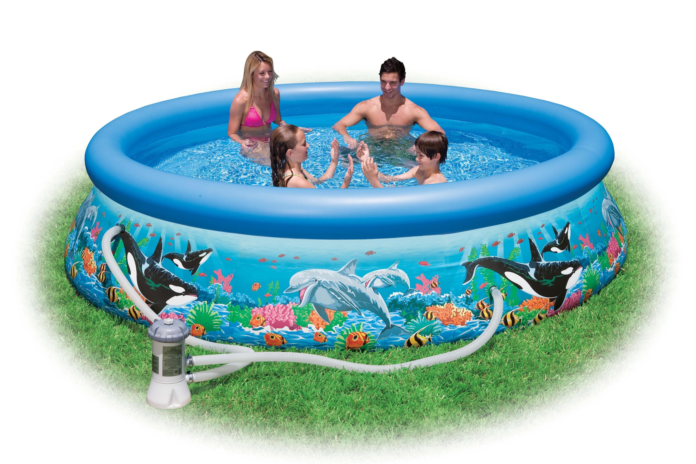 Бассейн серии Easy Set с фильтр. насосом, 366 х 76 см.Детские надувные бассейны<br>Бассейн серии Easy Set с фильтр. насосом, 366 х 76 см.<br>