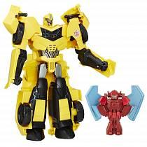 Заряженный Бамблби и миникон Баззстрайк из серии Роботы под прикрытием (Hasbro, b7069-b7067)