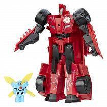 Transformers. Трансформер Sideswipe из серии Роботы под прикрытием - Заряженные герои (Hasbro, b7068-b7067)