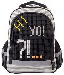 67215f497755 Купить. Рюкзак школьный с пикси-дотами серый (Gulliver, MC-3191-5)