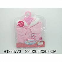 Комплект одежды для куклы, куртка с капюшоном, розовая (Baby Dolls, B1226773sim)