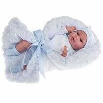 Озвученная кукла Вито в голубом, 34 см (Antonio Juans Munecas, 7029B)