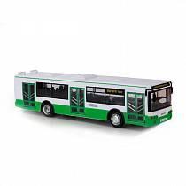 Инерционный автобус со светом и звуком (Технопарк, X600-H09065-Rsim)
