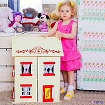 Деревянный кукольный домик с 15 предметами мебели - София (Paremo, PD115-02)