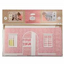 Набор для интерьера кукольного домика Одним прекрасным утром – Обои и ламинат, розовый (ЯиГрушка, 59505-1st)