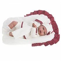 Озвученная кукла Молли в красном, 34 см (Antonio Juans Munecas, 7034R)