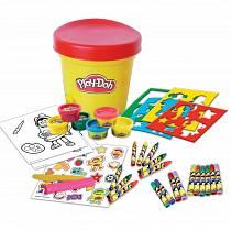 Набор из серии Play doh - Необычное ведерко, с пастой для лепки, маркерами, наклейками, восковыми мелками и трафаретами (D`arpeje Toys`n`fun, CPDO051)