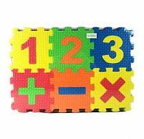 Коврик-пазл Изучаем цифры, 30 предметов (TH-64001)