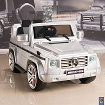 Электромобиль DMD-G55 Mercedes-Benz AMG NEW Version 12V R/C silver с резиновыми колесами (RT, 5037RT)
