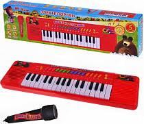Электроорган «Маша и медведь» с микрофоном (Играем вместе, B375978-R2sim)