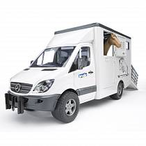 Mercedes Benz Sprinter с лошадью (Bruder, 02-533)