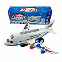 Самолет электромеханический со световыми и звуковыми эффектами (ABtoys, C-00116)