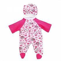 Комплект одежды для куклы Карапуз - Комбинезон с шапочкой, 40-42 см, розовый (Карапуз, OTF-506-2-Rusim)