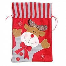 Подарочный мешок, красный, 19 х 28 см (Новогодняя сказка, 972417)