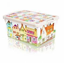 Ящик для игрушек с аппликацией - Город (Бытпласт, 431301207sim)