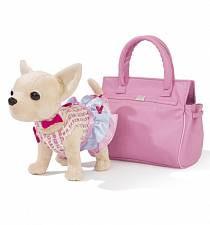 Интерактивная плюшевая собачка Чихуахуа в стильном платьице и с браслетом (Simba, 5895105)