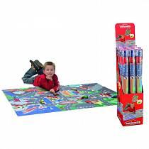 Игровой коврик с машинками и дорожными знаками, 100 х 140 см. (Majorette, 3315981)