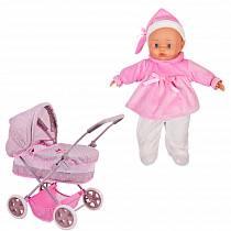 Bambolina Boutique - Классическая коляска с куклой, 36 см (Dimian, 9613WB-M4)