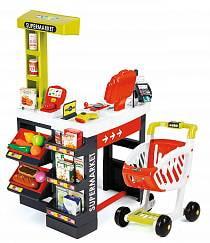 Супермаркет с тележкой, красный (Smoby, 350210)