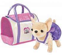 Плюшевая собачка Чихуахуа из серии Chi Chi Love в платье, с сумкой, 20 см. (Simba, 5897407)