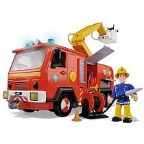 Машина со звуком, светом и функцией подачи воды из серии «Пожарный Сэм», с фигуркой (Simba, 9251063)
