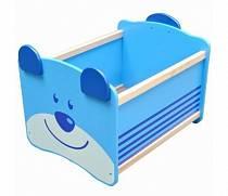 Ящик для хранения игрушек I'm Toy Медведь, синий (I'm Toy, 41010im)