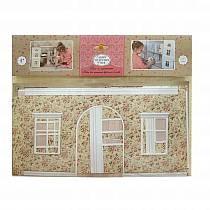 Набор для интерьера кукольного домика - Одним прекрасным утром™ - Обои и ламинат, в цветочек (ЯиГрушка, 59505-3st)