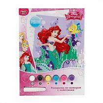 Набор для творчества Принцессы Disney - Раскраска по номерам с пайетками (Multiart, 6032PB-SQN-PRsim)