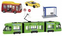 City: трамвай, автобус и машина (Dickie, 3829001)