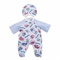 Комплект одежды для куклы Карапуз - Комбинезон с шапочкой, 40-42 см, голубой (Карапуз, OTF-506-Rusim)