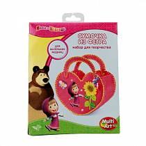 Набор для творчества - Маша и Медведь - Сделай сумочку из фетра (Multiart, BAG01-MASHAsim)