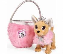 Плюшевая собачка Chi-Chi love - Принцесса с пушистой сумкой, 20 см (Simba, 5893126)