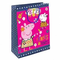 Пакет подарочный – Свинка Пеппа и Сьюзи, 35 х 25 х 9 см. (Росмэн, 31021ros)