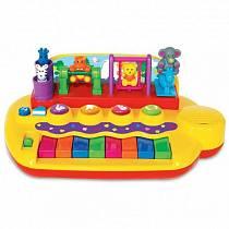 Развивающая игрушка - Пианино с животными на качелях (Kiddieland, KID 033423veg)