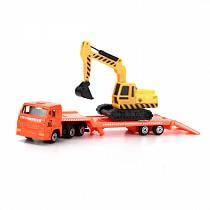 Металлическая машина – КамАЗ транспортер с дополнительной машинкой, 7,5 см (Технопарк, SB-15-04-6-WBsim)