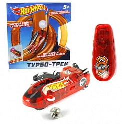 Турбо-трек Hot Wheels на ИК-управлении, 20 деталей, свет (1toy, Т14096)