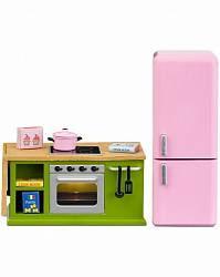 Мебель для домика Смоланд - Кухонный набор с холодильником (Lundby, LB_60207800)