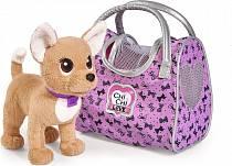 Плюшевая собачка из серии Chi-Chi love - Путешественница, с сумкой-переноской, 20 см. (Simba, 5893124)