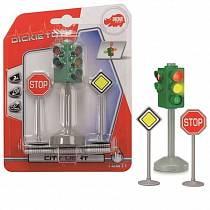 Светофор и знаки дорожного движения, 12 см. (Dickie, 3341000)