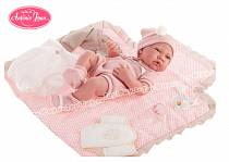 Кукла-младенец Кармелита, с пеленальным комплектом, 42 см. (Antonio Juan Munecas, 5095P)