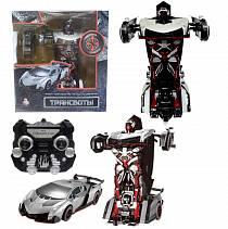Робот на радиоуправлении 2,4GHz, трансформирующийся в спортивный автомобиль, серебристый (Solmar, Т10856)