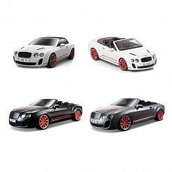 Машина Bentley Continental Supersport Convertible, металлическая, 1:18 (Bburago, 18-11035)