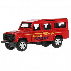e431cfe09b82 Машина металлическая Land Rover Defender Спорт, длина 12 см, открываются  двери, инерционная ( -17%. Купить
