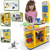 Супермаркет с кассой и холодильником для продуктов, 12 аксессуаров (PALAU TOYS, 07/1483veg)