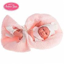 Кукла-младенец Оливия в розовом, 42 см. (Antonio Juan Munecas, 5062P)